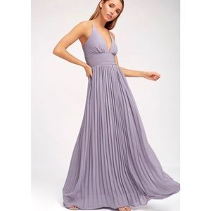 Lulu's 'Depths of My Love' Purple Maxi Dress